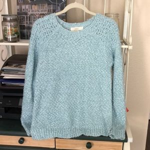 Forever 21 Sky Blue Knit Sweater
